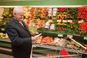 Older man shopping