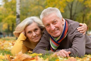 Mature couple relaxing in nature