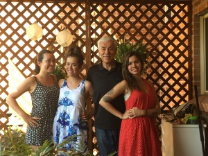 David with 3 daughters Dec 2015