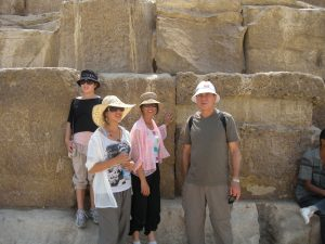 Travel-Base of Great Pyramid-Cairo