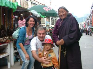 Local Market in Lhasa Tibet, Meeting The People