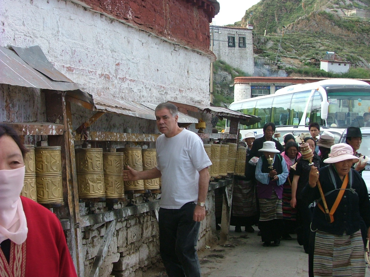 Ringing The Bells at Entrance to Potala Palace Lhasa, Tibet